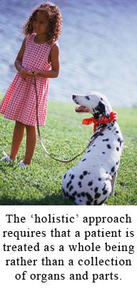 girl and her dog
